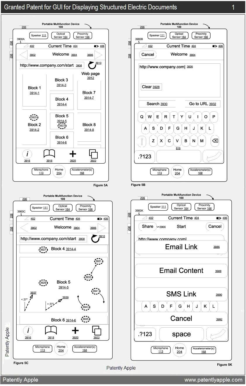 Patente de exibição de documentos e páginas