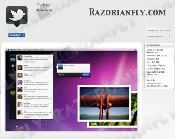 Tweetie ou Twitter for Mac 2 - RazorianFly