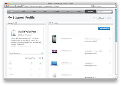 Apple - My Support Profile