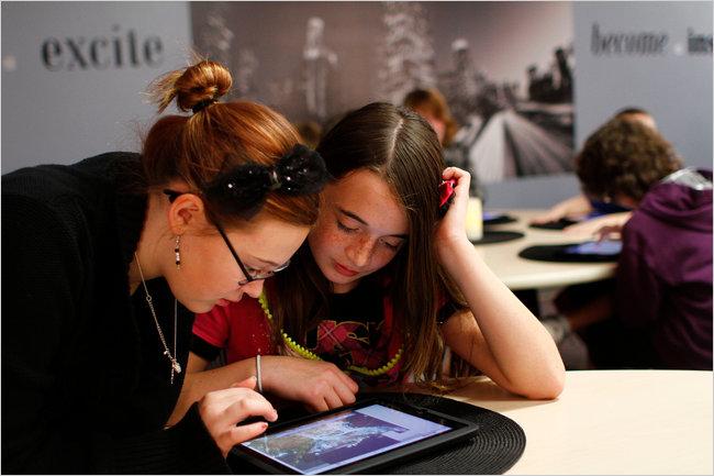 iPad usado em escola