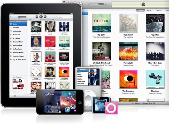 iTunes em vários dispositivos - iPad, iPhone, iPods e Mac