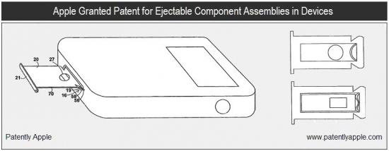 Patente de gadget com componente removível
