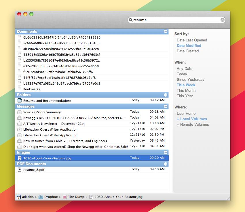 Tembo no Mac OS X
