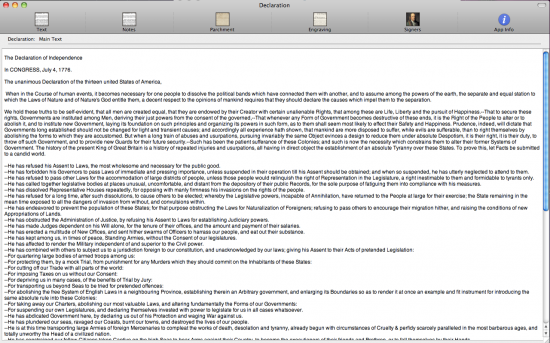 Declaration for Mac