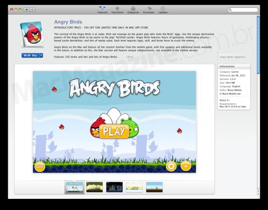 Angry Birds na Mac App Store