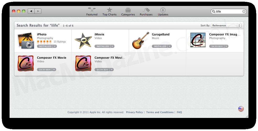 iLife na Mac App Store