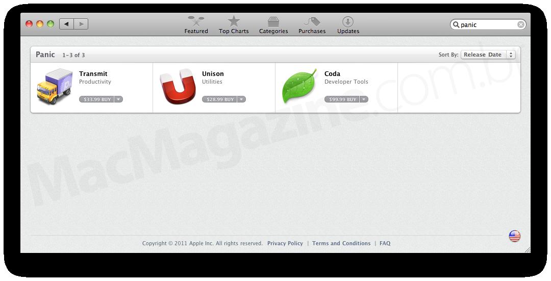 Apps da Panic na Mac App Store