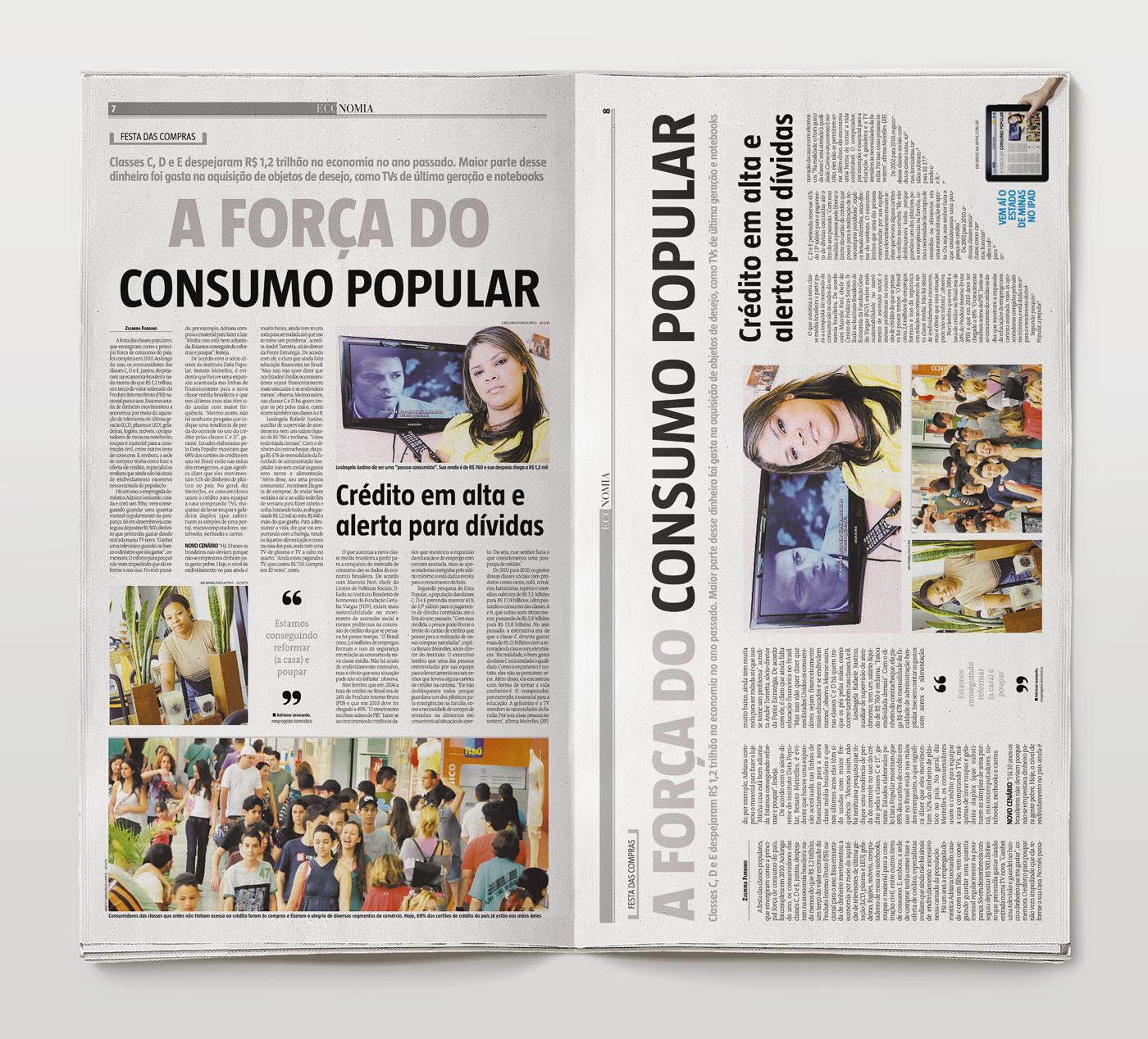 Propaganda do Estado de Minas para iPad