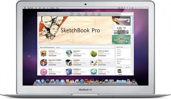 Mac App Store num MacBook Air
