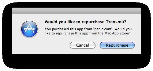 Mockup de confirmação de compra na Mac App Store