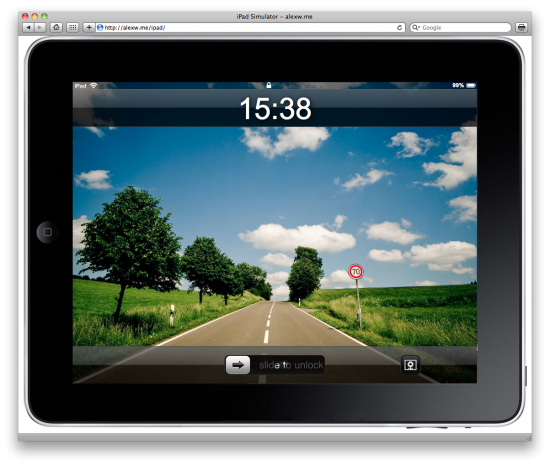 iPad Simulator no Safari
