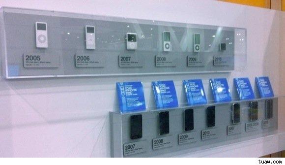 Linha do tempo de iPods na CES 2011
