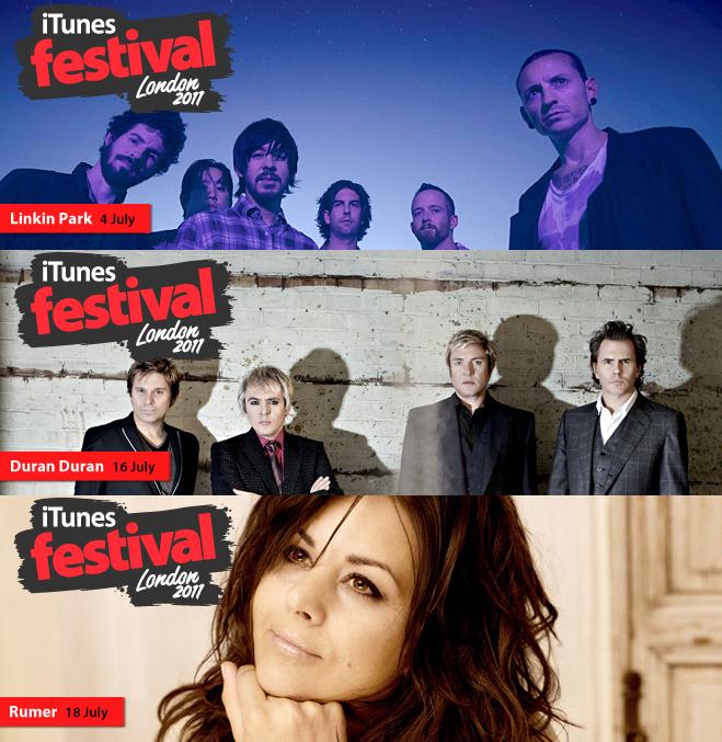 Atrações confirmadas do iTunes Festial 2011