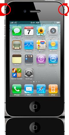 Antena do iPhone 4 CDMA da Verizon