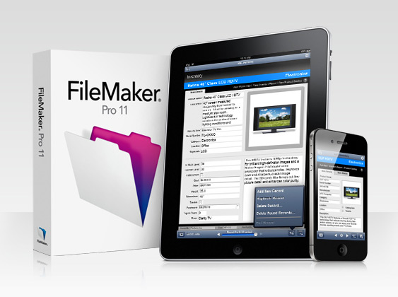 FileMaker Pro 11 e FileMaker Go em iPad e iPhone