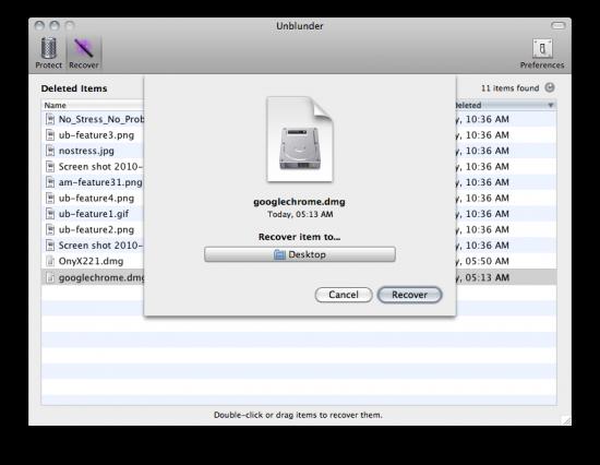 Unblunder - Mac OS X