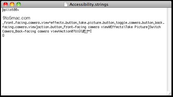 Arquivo do Photo Booth no iOS 4.3