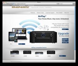 Denon e Marantz sobre AirPlay