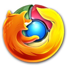 Ícone do Google Chrome mesclado com o Mozilla Firefox