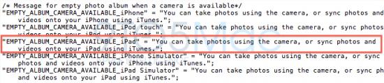Referência a câmera no iPad