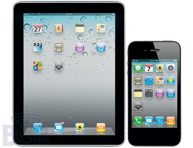 iPad e iPhone 4 sem botão Home