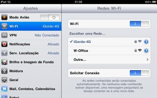 Ícone do Acesso Pessoal no iPad
