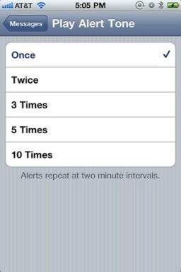 Tom de mensagem no iOS 4.3