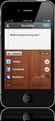 Sociable no iPhone 4