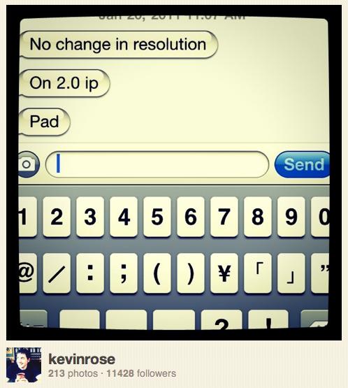 Kevin Rose no Instagram