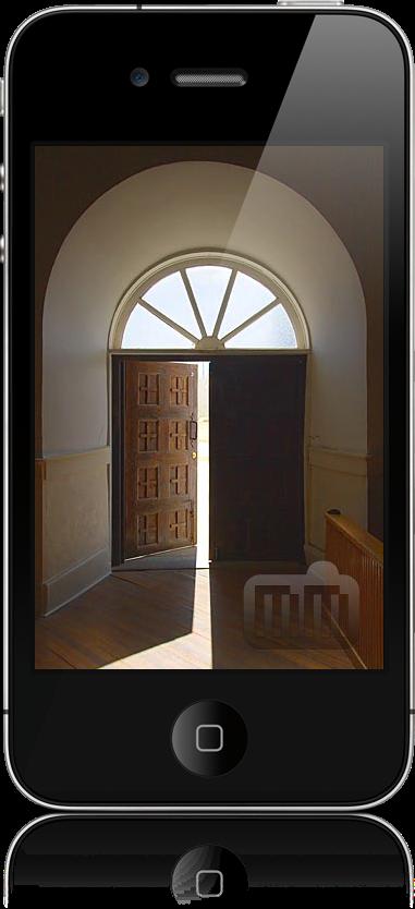 iPhone 4 com porta aberta