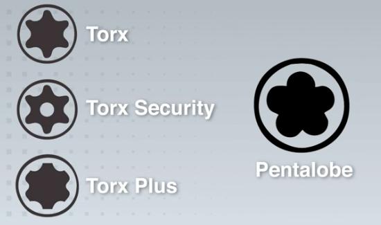 Diferença entre parafuso torx e pentalobular