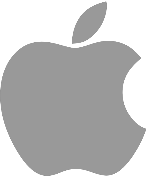 Logo cinza da Apple