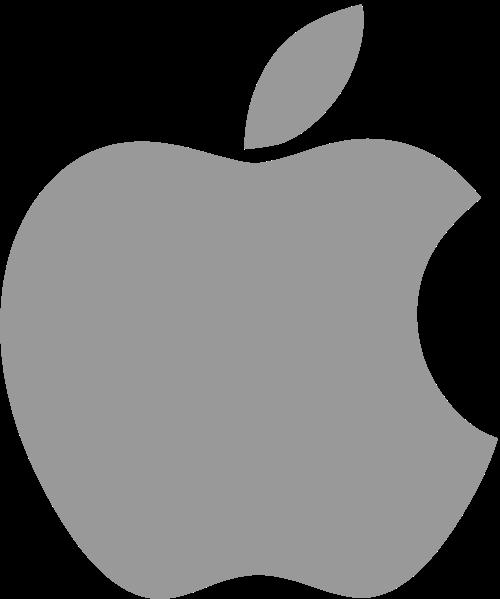 Logo cinza da Apple
