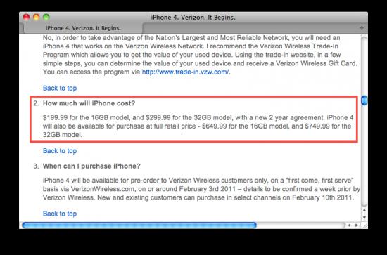 Preço do iPhone 4 CDMA sem contrato