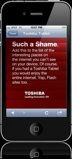 Site da Toshiba Tablet