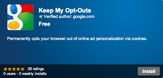 Keep my opt-outs - Google Chrome
