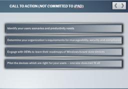 Slides da Microsoft demonstrando fraquezas do iPad