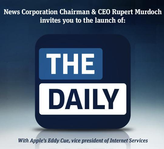 Convite para lançamento do The Daily