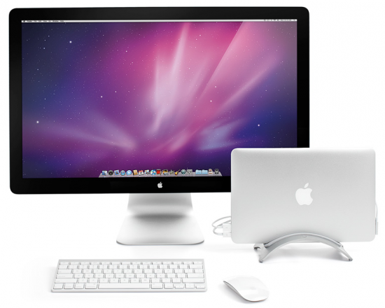 BookArc com MacBook Air e LED Cinema Display