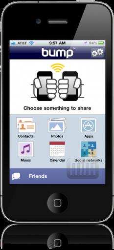 Compartilhamento de apps no Bump
