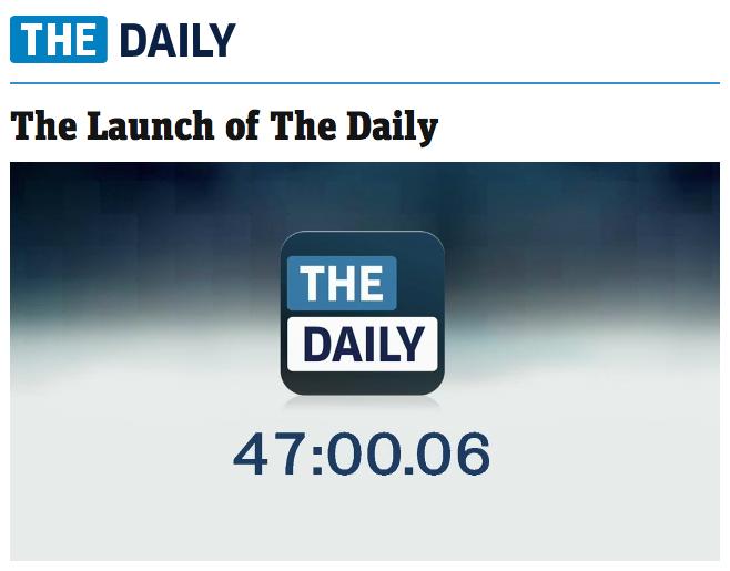 Contagem regressiva para lançamento do The Daily