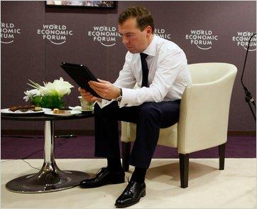 Dmitri A. Medvedev com iPad