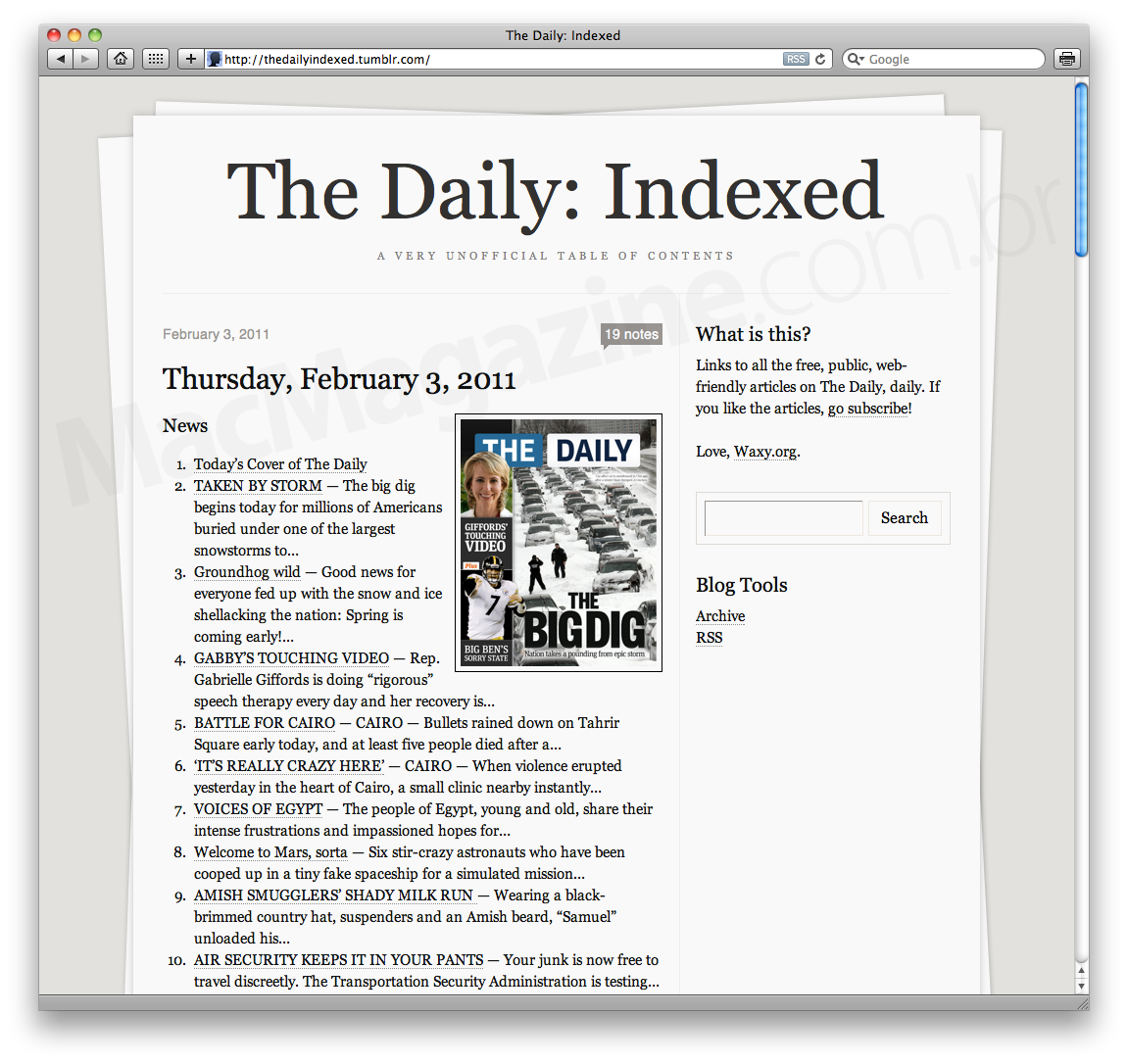The Daily - Indexed