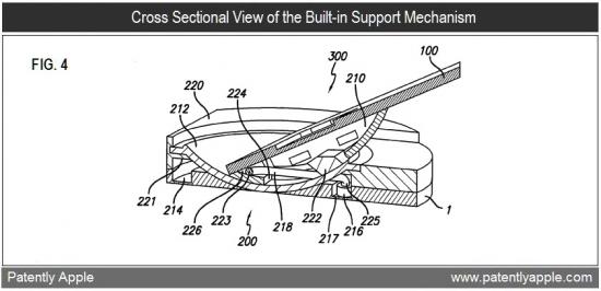 Patente de stand embutido no iPad