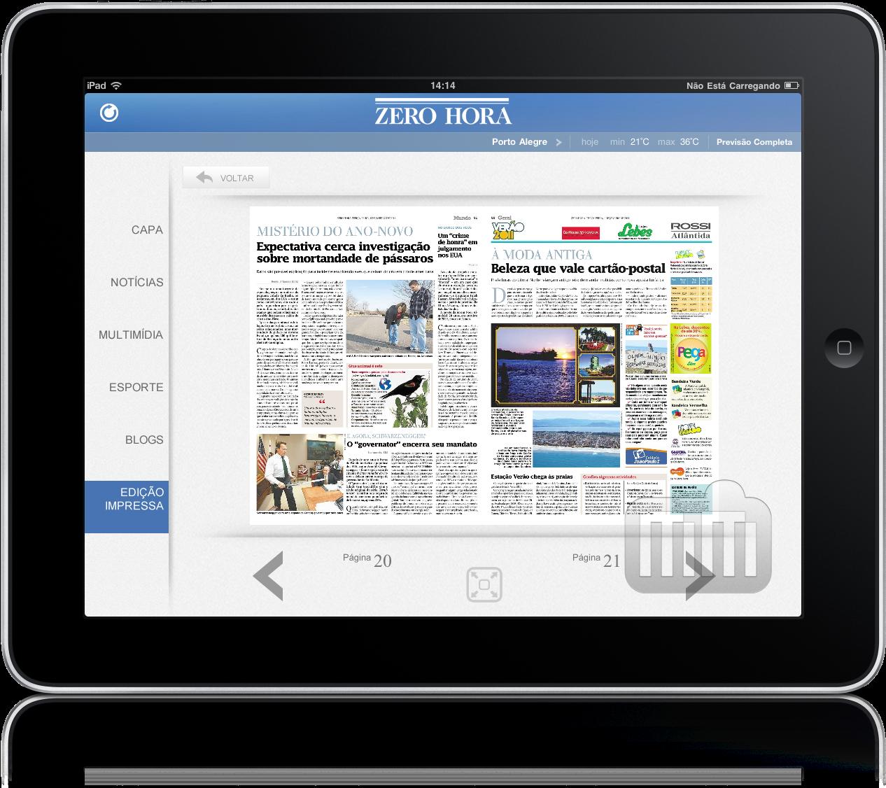 Zero Hora para iPad