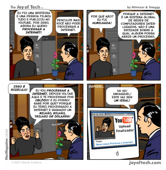 Joy of Tech - Processar a internet