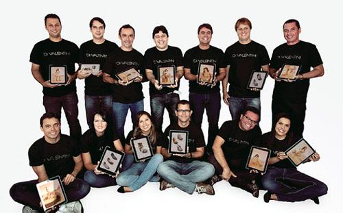 Equipe da Di Valentini com iPads