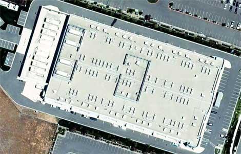 Visão superior do novo data center da Apple