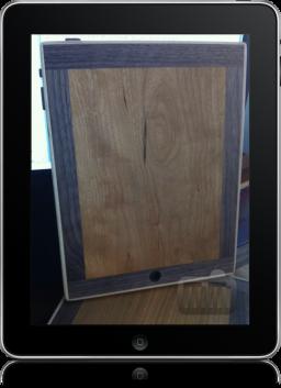 Tábua de cortar queijo em forma de iPad