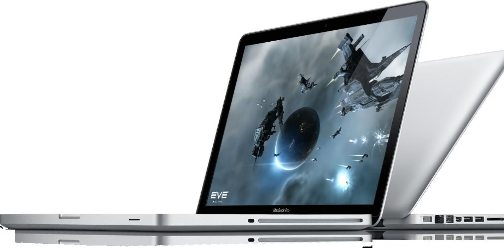 MacBooks Pro de lado com jogo